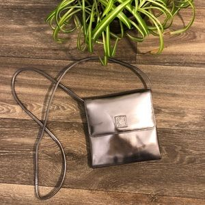Anne Klein Pewter Silver Metallic Handbag